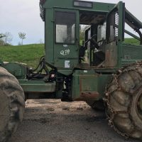 2000 Franklin Q70 Single Arch Grapple Skidder with Winch