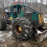 1995 450C Timberjack Single Arch Grapple Skidder
