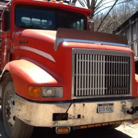 1996 International Model 9400 Tri Axle Log Truck