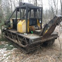 Bombardier Muskeg Track Cable Skidder