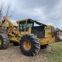 2009 Tigercat 620C Dual Arch Grapple Skidder with Winch